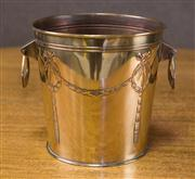 Sale 7379B - Lot 26 - Large Edwardian plated Jardinière with garland loop handles. C. 1900
