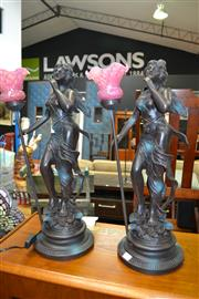 Sale 8138 - Lot 951 - Pair of Figural Table Lamps
