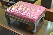 Sale 8277 - Lot 1043 - Small Upholstered Top Footstool