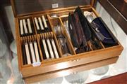 Sale 8330T - Lot 183 - Angus & Coote Silver Plated Cutlery in Canteen