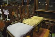 Sale 8338 - Lot 1372 - Set of Five Edwardian Carved Back Dining Chairs