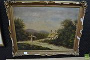 Sale 8487 - Lot 2023 - Artist Unknown, Cottage by the Cross Roads