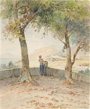 Sale 8549 - Lot 572 - Salvatore Petruolo (1857 - 1946) - Napoli, 1940 46.5 x 38cm