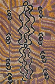 Sale 8624 - Lot 531 - Liddy Napanangka Walker (c1930 - ) - Water Dreaming, 1990 122 x 84cm (stretched & ready to hang)
