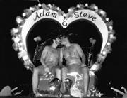 Sale 8912A - Lot 5041 - Adam & Steve, Sydney Gay and Lesbian Mardi Gras Parade (1990), 25 x 20 cm, silver gelatin, Photographer: unknown