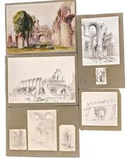 Sale 9036 - Lot 2015 - ARTIST UNKNOWN - Collection of 8 sketches various sizes