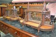 Sale 8093 - Lot 1735 - Victorian Hanging Shelf with Mirrored Back & Detailed Fret Work