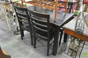 Sale 8262 - Lot 1089A - Five Piece Dining Suite incl. Table and Four Chairs