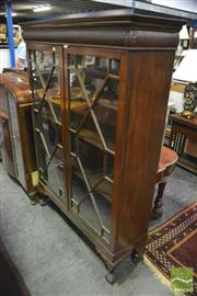 Sale 8347 - Lot 1088 - Edwardian Mahogany Display Cabinet with Astragal Doors (H 165 x W 117 x D 37cm)