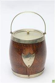 Sale 8645D - Lot 84 - Silver Plated And Wood Ice Bucket
