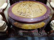 Sale 8740 - Lot 1384 - Oriental Round Top Occasional Table