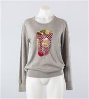 Sale 8760F - Lot 105 - A Markus Lupfer Popcorn sequin sweater in grey wool, size small (brand new with tags, RRP $600)