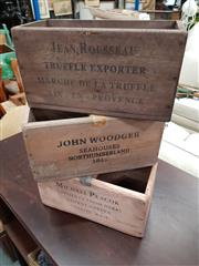 Sale 8805 - Lot 1086A - Set of Three Herbs & Spices Boxes incl. John Woodsger, Michael Peacock & Jean Rousseau