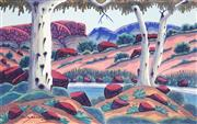 Sale 8955 - Lot 517 - Kevin Namatjira (1958 - ) - Temple Dunes, East of Arionga (Fathers Country) 32 x 52 cm