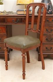 Sale 8926K - Lot 2 - A Victorian style mahogany chair with green leather upholstery