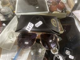 Sale 9106 - Lot 2428 - Pair of Ray-Ban Sunglasses in Case
