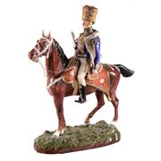 Sale 8000 - Lot 307 - A large Sitzendorf porcelain figure group of the 10th Hussars Review Order.