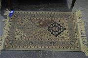 Sale 8031 - Lot 1069 - Rug In Green Tones (95 x 60cm)