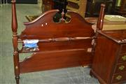 Sale 8093 - Lot 1491 - Timber Double Bed Frame