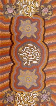 Sale 8260A - Lot 67 - Maudie Peterson (XX) - Womens Dreaming from Kunatjarrayi, 1988 168.5 x 89cm (framed & ready to hang)