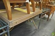 Sale 8331 - Lot 1374 - Limed Hall Table with Two Drawers - ex. Space