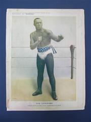 Sale 8419A - Lot 7 - Boxing Portraits 1909-1912 - 12 clean original chromoliths, mostly colour supplements to Boxing Weekly including Battling Nelson, Sa...