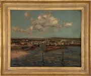 Sale 9044J - Lot 42 - Will Ashton - Boats on Harbour 60x75cm