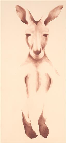 Sale 9216A - Lot 5031 - PETER HICKEY (1943 - ) Roo, 1984 aquatint ed. 17/50 (unframed) 79.5 x 37.5 cm (sheet: 100 x 48 cm) signed and dated lower right