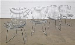 Sale 9255 - Lot 1018 - Set of 4 wire dining chairs (h:81 x w:54cm)