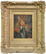 Sale 8518A - Lot 72 - Artist Unknown (XIX) - Portrait of a Spanish Cavalier 15 x 10cm