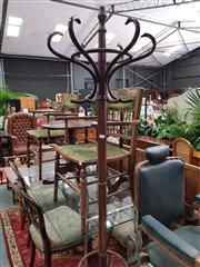 Sale 8904 - Lot 1091 - Turned Timber Coat Stand