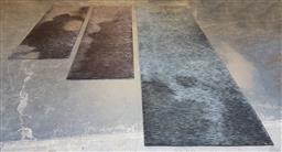 Sale 9171 - Lot 1041 - Collection of 3 modern black tone hall runners (largest - 415x122cm)