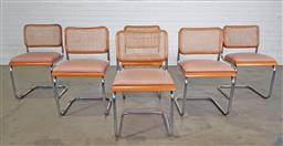 Sale 9255 - Lot 1013 - Set of 6 canter lever dining chairs (h:81 x w:50 x d:45cm)