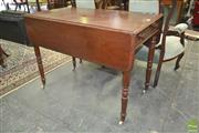 Sale 8267 - Lot 1023 - Victorian Mahogany Pembroke Table, with single drawer  & ring turned legs