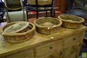 Sale 8532 - Lot 1141 - Collection of 4 Vintage French Bread baskets