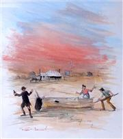 Sale 8563T - Lot 2049 - Rex Newell - Country Scene, watercolour, 27 x 24cm, signed lower left