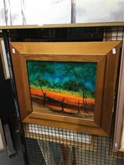 Sale 8702 - Lot 2042A - Nick Petali  Outback Cottage Scene oil on board, 35x 49cm, signed lower right