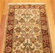 Sale 8863H - Lot 68 - A Robyn Cosgrove finely woven Indian Isfahan carpet, 76cm x 302cm