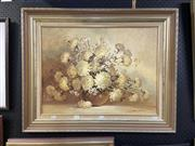 Sale 8888 - Lot 2005 - John Pinto - Still Life Vase of Flowers, oil, SLR, 45x60cm