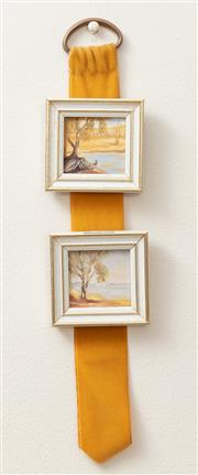 Sale 8926K - Lot 23 - A group of four oil on board landscapes, two are 14 x 9cm with two smaller examples 4 x 4cm