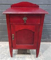 Sale 9009 - Lot 1038 - Timber Bedside With Single Door & Drawer (H85 x W53 x D46cm)