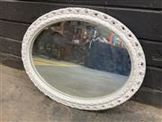 Sale 9051 - Lot 1094 - Ornate White Painted Mirror (46 x 37cm)