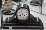 Sale 8024 - Lot 13 - French Mantle Clock (Chime & Key Included)
