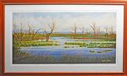 Sale 8068A - Lot 26 - Roxanne Minchin (XX) - Wetlands 60 x 121cm