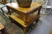 Sale 8099 - Lot 888 - Pair of Carved Timber Occasional Table