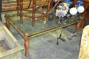 Sale 8165 - Lot 1085 - Rustic Glass Top Coffee Table