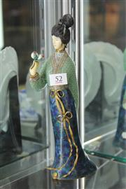 Sale 8261 - Lot 52 - Cloisonne Figure of a Lady