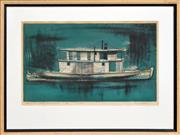Sale 8271A - Lot 13 - Kenneth Jack (1924 - 2006) - Murray River Padel Steamer No. 13, P.S PYAP 27.5 x 44.5cm