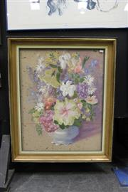 Sale 8349A - Lot 66 - Claudia Forbes-Woodgate (1925 - 2008) - Still Life - Flowers 75.5 x 59cm