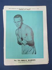 Sale 8450S - Lot 752 - Heroes of Sport - 48 good coloured supplements to The Australian Boxing Ring 1930-1934, with many duplications for 1933